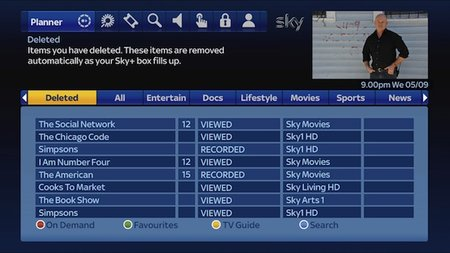 Sky+ updated with undelete function and Catch Up TV
