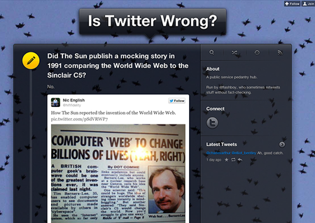 WEBSITE OF THE DAY: Is Twitter Wrong?