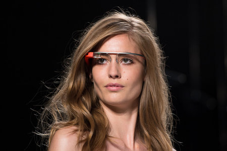 Google Glass hits the catwalk as models strut their high tech stuff