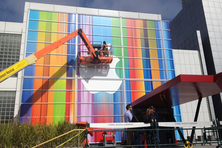 iPhone 5 launch draws closer as Apple preps Yerba Buena Center - clues in the backdrop