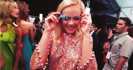 DVF through Glass: Google's Project Glass on the runway (video)