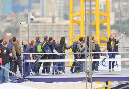 Extreme queuing: iPhone 5 available from... the top of The O2