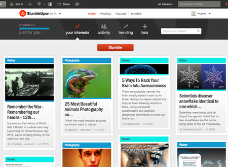 WEBSITE OF THE DAY: StumbleUpon