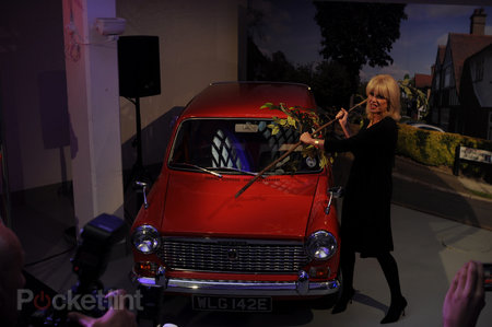 Joanna Lumley shins up a ladder, hits a car, to launch TalkTalk's YouView service - photo 10