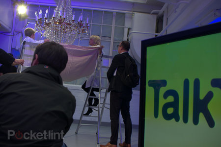 Joanna Lumley shins up a ladder, hits a car, to launch TalkTalk's YouView service - photo 4