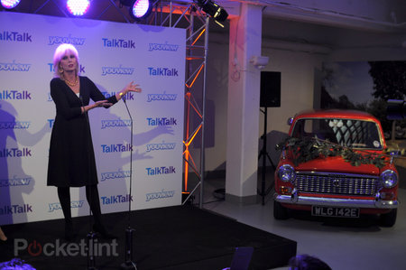 Joanna Lumley shins up a ladder, hits a car, to launch TalkTalk's YouView service - photo 7