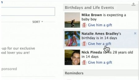 Facebook Gifts: Say happy birthday with an actual physical present