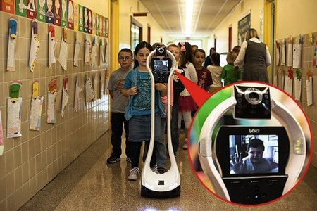 Robot takes place of sick child in US school