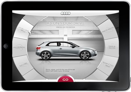 Audi A3 app lets you get inside the car through your iPad - photo 2