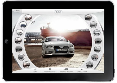 Audi A3 app lets you get inside the car through your iPad - photo 3