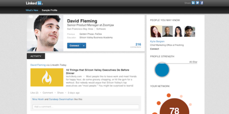 LinkedIn Profile gets a facelift as it looks for more interaction between members