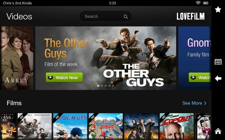Lovefilm for Kindle Fire HD pictures and hands-on - photo 2