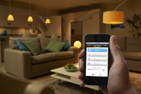 Philips hue LED bulb illuminates your home via your smartphone or tablet