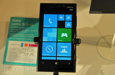 Nokia Lumia 920 4G available from EE on 9 November