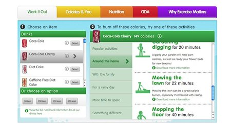 Coca-Cola's 'Work It Out Calculator' tells you how much exercise you need to do for every fizzy drink you consume