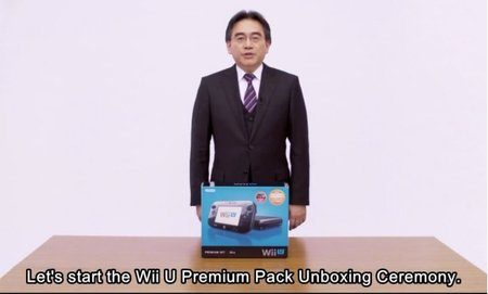 Wii U unboxing ceremony performed by Nintendo CEO