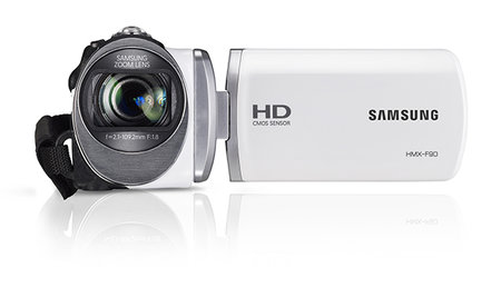 Samsung HMX-F90 5-megapixel camcorder, a bit of all-white - photo 2