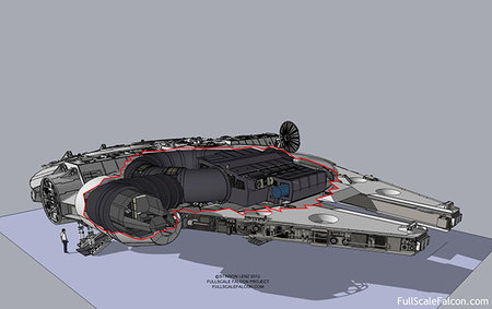 Star Wars fans crowd-building a full-scale Millennium Falcon
