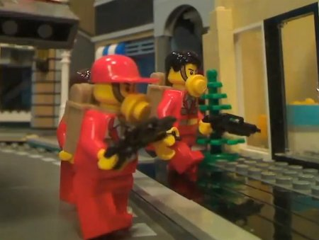 GTA 5 trailer remade... with Lego