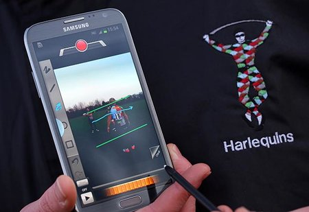 Samsung teams with rugby union champs Harlequins for Galaxy Note 2 training