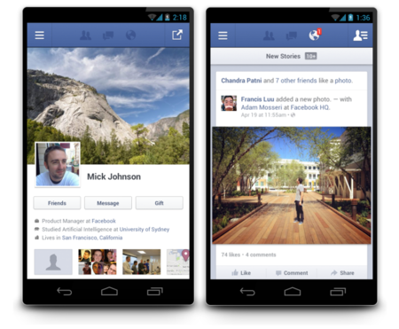 Facebook Android app updated, now twice as fast