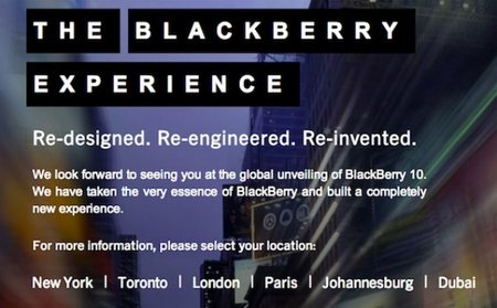 BlackBerry 10 global launch invites go out, as leak implies Vodafone stock from day one