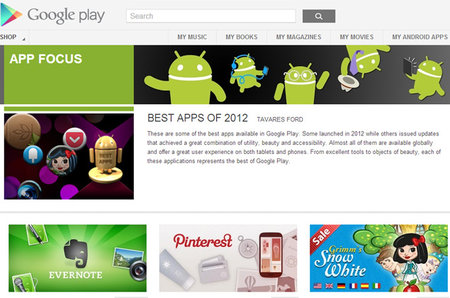 Google's favourite apps of 2012
