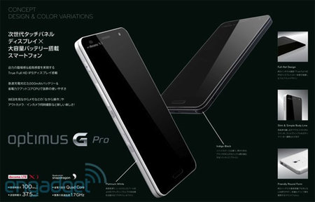 LG Optimus G Pro picture leaked, coming to regions outside Japan?