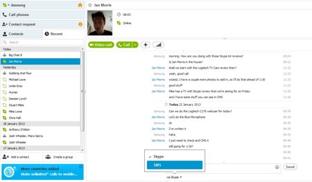 Secret Skype: Voice messages and SMS - photo 2