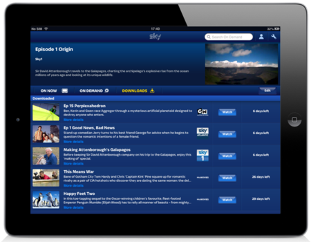Sky Go Extras app goes live, first two months are free