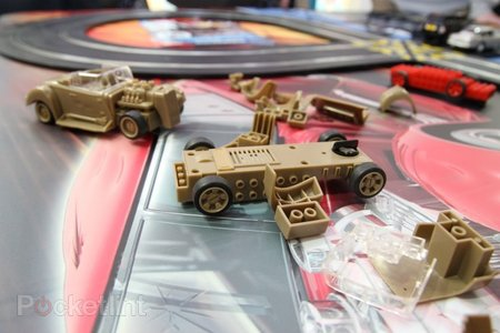 Scalextric Quick Build Demolition Derby set plays nice with Lego - photo 1