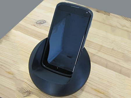 Nexus 4 dock crafted with 3D printer