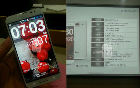 LG Optimus G Pro pictures leaked, 5.5-inch screen in tow