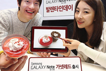 Samsung Galaxy Note 10.1 LTE released in red for Valentine's Day