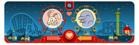 Valentine's Day Google doodle: Interactive animal love... er...