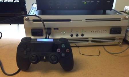 Purported PlayStation 4 controller with touchpad photographed