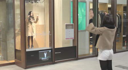 Kinect-enabled mannequin mimics shoppers' movements