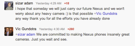 Google's Vic Gundotra teases Nexus phones with 'insanely great cameras' - photo 2