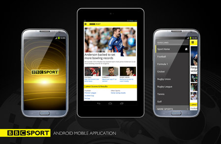 BBC Sport app for Android launched, optimised for devices up to 7-inches