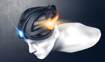 Clever cycle helmet concept lets you indicate when you are turning