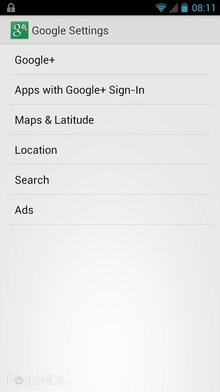 Google Settings app appears in Android, lets you control Google+ sign-in, search, location, maps - photo 4