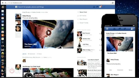 Facebook News Feed updated with a fresher new look - photo 1