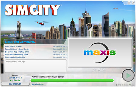 SimCity launches in UK, customers unable to play