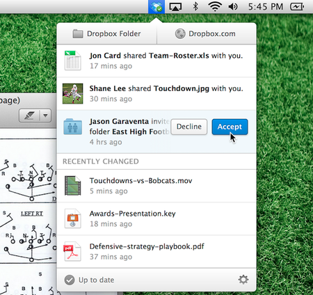Dropbox desktop client revamped with new menu and easier file sharing