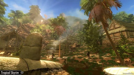Tropical Skyrim mod: turns Elder Scrolls game's land into Caribbean-like paradise (video)