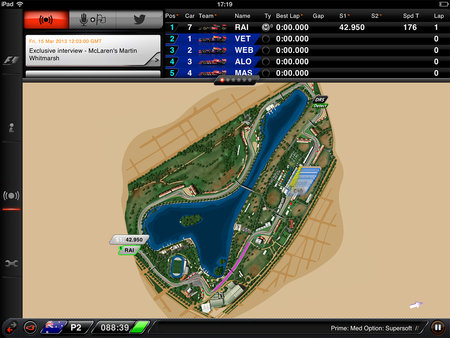 APP OF THE DAY: F1 2013 Timing App CP review (iPad) - photo 4