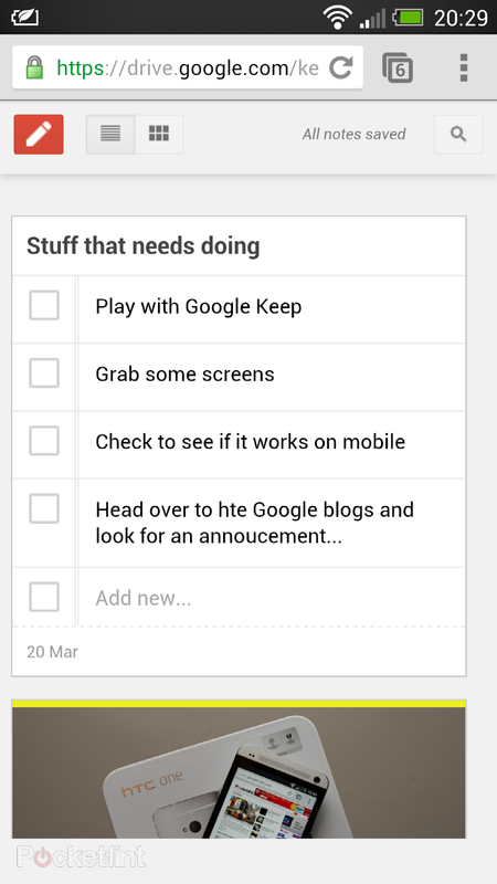 Google Keep notetaking service officially announced for web and Android - photo 5