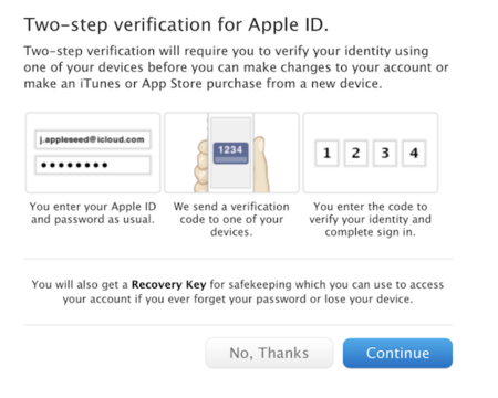 Apple rolls out two-step verification for Apple IDs, adding extra security