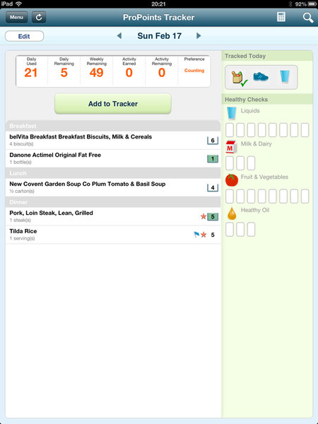 App of the day: Weight Watchers review (iPad/iPhone) - photo 7
