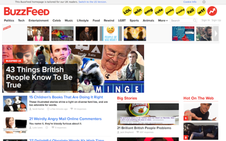Online publisher BuzzFeed launches UK-centric homepage